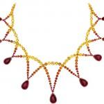 Ожерелье для невесты под платье без бретелек