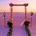 Вариант для свадьбы на пляже