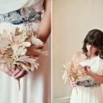 Оригинальный пояс и невероятный по красоте букет - яркие акценты образа невесты
