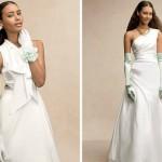 Нежно-голубые свадебные перчатки невесты