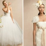 Бабочки на платье и солнечного цвета нежная шляпка для невесты