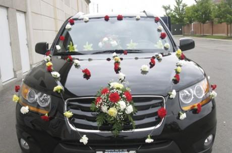 Украсим свадебный кортеж цветами