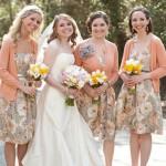 Персиковый - великолепный цвет для свадебного праздника