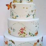 Торт с росписью