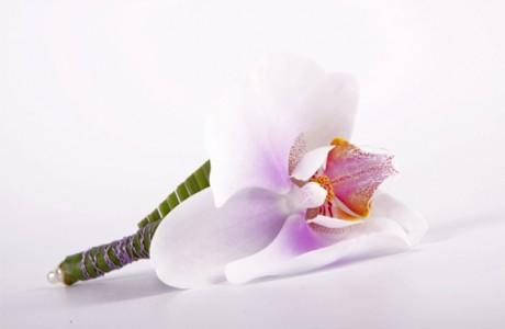 Бутоньерка для жениха из орхидеи