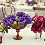 Украшай столы вазами с цветами