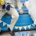 Авто на свадьбу тоже должно быть с синих тонах!