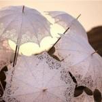 Прекрасный кружевной свадебный аксессуар