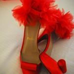 Красная обувь для невесты