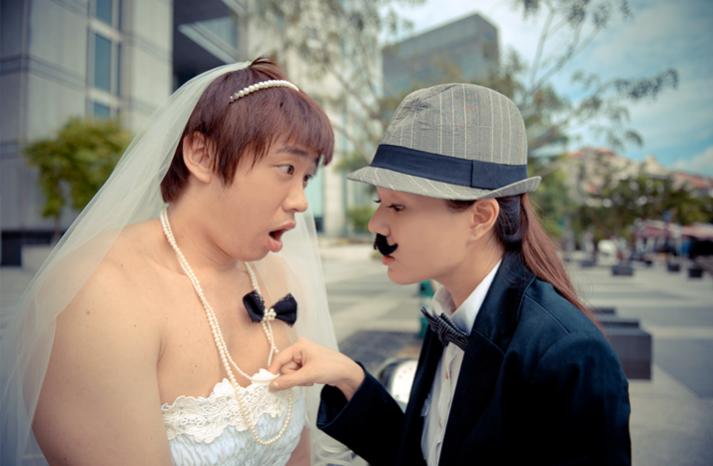 Шокирующие свадебный