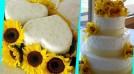 Мастер-класс: необычный желтый дизайн свадебного торта