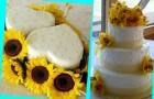 Желтый свадебный торт - красиво