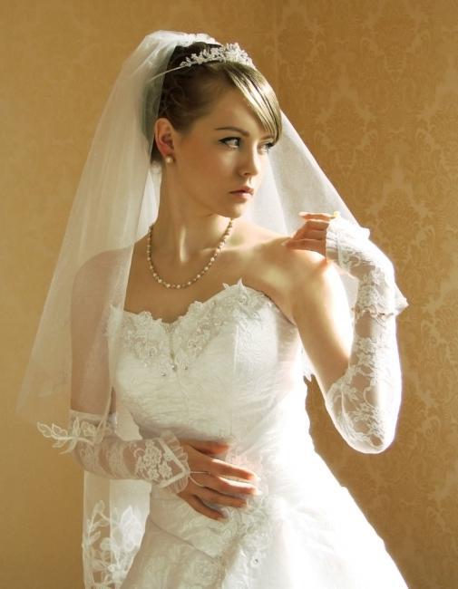 Простая свадебная прическа