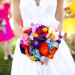 Невеста в ярких красках