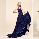 Свадебные платья в горошек смотрятся очень оригинально