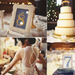 Все в горошинах. И даже свадебный торт!