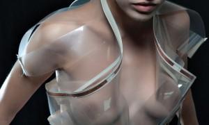 Необычное прозрачное платье