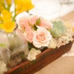 Нежные розы персикового цвета