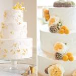 Свадебный торт тоже можно великолепно украсить солнечными краспедиями
