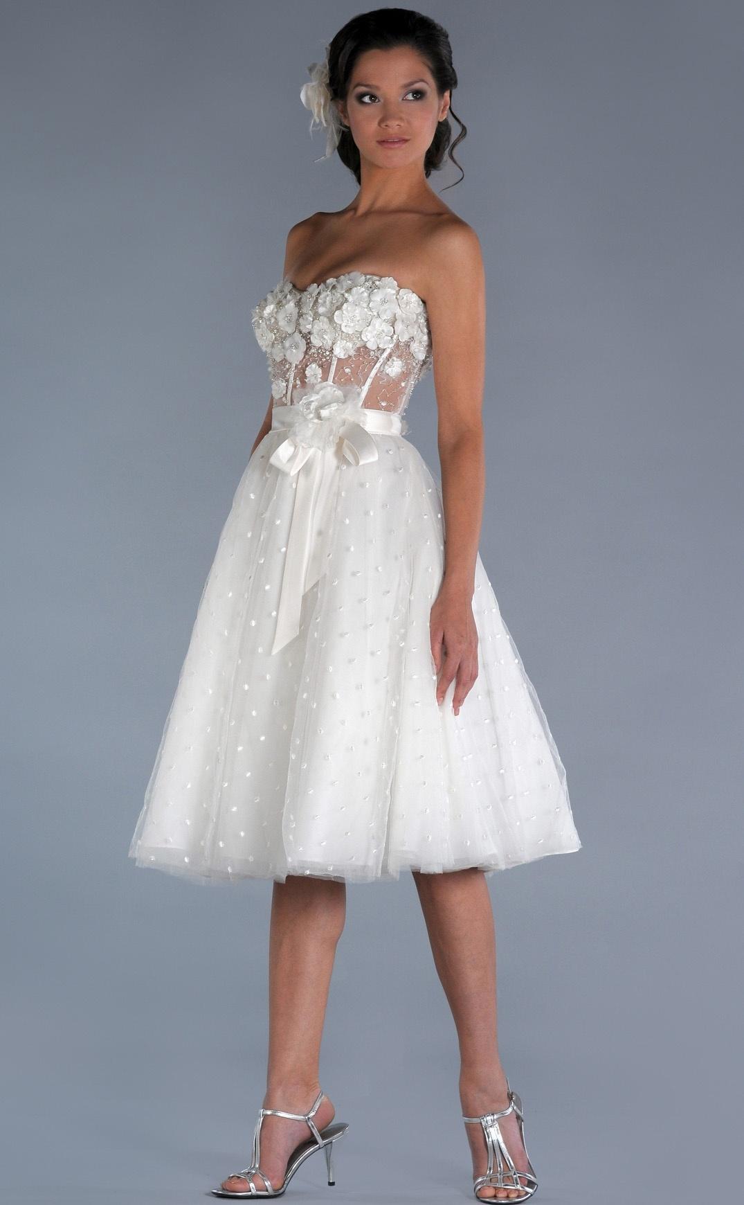 Свадебные платья короткие простые
