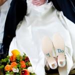 Креативный акцент на свадебной обуви!