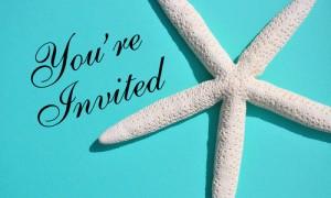 Морские пригласительные на свадьбу