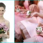 К розовым платьям - маленькие белые букеты