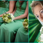 Зеленые акценты для платья и букетов