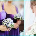 К фиолетовым платьям - бледно-сиреневые букеты