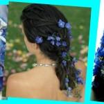 И 2 варианта синих свадебных букетов