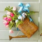 Стильная цветочная композиция-лейка