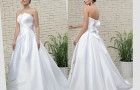 Свадебное платье с необычным вырезом лифа