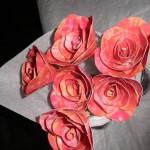 Узорчатые розовые цветы
