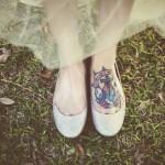 Блестящие балетки для блестящей невесты