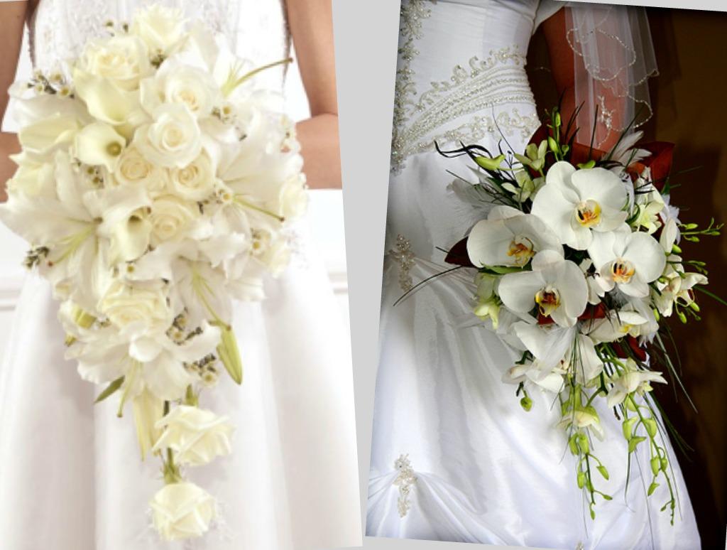 Лучшие свадебные букеты из орхидей и роз — 9