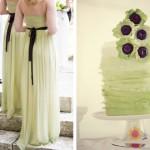 Оформи в такой цветовой гамме даже свадебный десерт