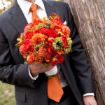 Сочетай букет невесты с аксессуарами жениха