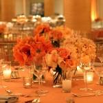 Освещение на персиковой свадьбе тоже должно быть особенным
