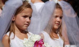Дети на свадьбе - модно