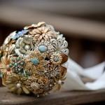 Свадебный букет в золоте