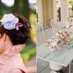 Весенний цветок для свадебной прически