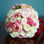 Свадебный букет из английской розы
