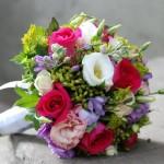 Цветной свадебный букет