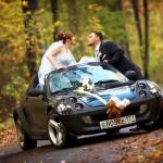 Спортивный кабриолет для свадьбы