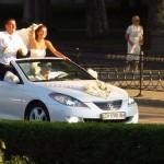 Свадебный кабриолет белого цвета
