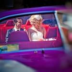 Экстравагантный фиолетовый кабриолет на свадьбу