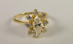 Итальянское кольцо с бриллиантами