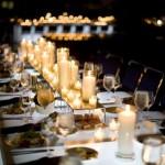 Романтическая атмосфера за свадебным столом