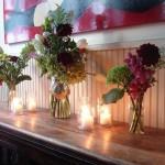 Украшение свадьбы свечами и цветами