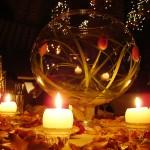 Таинственность тюльпанов и свечей